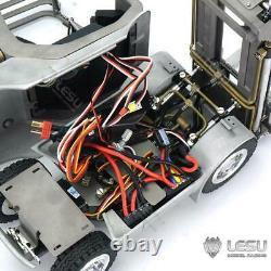 Lesu 1/14 Rc Bricolage Voiture Linde Chariot Élévateur Transfert Camion Sound Esc Moteur Radio Peint