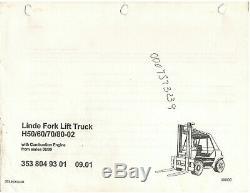 Linde Chariot Élévateur H50 / 60/70 / 80-02 Pièces (3538049301) D1254