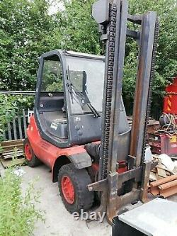 Linde De Lansing H40d Deisel Forklift Truck 4 Tonnes Capacité, Tall Mast Défaut Moteur