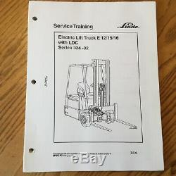 Linde E12 / 15/16 324-02 Manuel De Service De Réparation De Fourche Électrique Guide Boutique Lift Truck