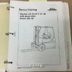 Linde E14-20 Series 335-02 Service Boutique Manuel Electrique Réparation Chariot Lift