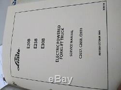Linde E20b E25b E30b Électrique Powered Forklift Manuel De Réparation Camion C2657 C2658