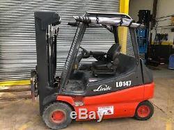 Linde E25 Chariot Élévateur Électrique Container Mât