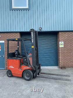 Linde Forklift Electric 1.5 Ton Chariot Élévateur Fourche Lansing