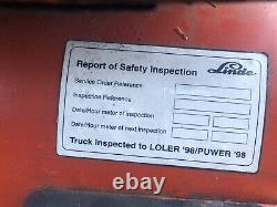 Linde H16t Gas Forklift Truck 1.6t 1992 Pièces De Rechange Ou Réparation