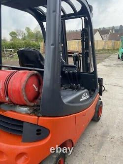 Linde H18t Gas / Lpg Contrebalance Chariot Élévateur. Mât De Container Stuffer