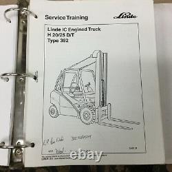 Linde H20 / 25 D / T (type 392) Manuel De Reparation De Fourche Shop IC Guide Lift Truck
