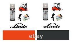 Linde Red Orange & Grey Forklift Truck Paint High Enamel Paint 400ml Aérosols