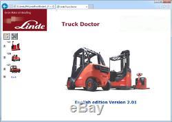 Linde Truck Doctor V2.01.05 01,2016 Chariot Élévateur Frontal Docteur Du Logiciel De Diagnostic
