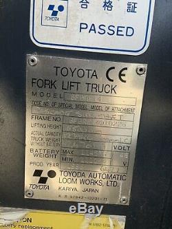 Toyota 6fbre14 Électrique Bt Chariot À Mât Rétractable Linde Truck Non, Hyster, Yale
