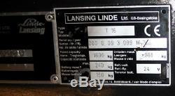 Transpalette Électrique Linde T-16 1600kg - Pièces Détachées Ou Réparées