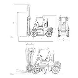 Uk Disponibilité Linde Unassembled Chariot Élévateur Lesu 1/14 Rc Transfert Moteur Esc Servo Truck